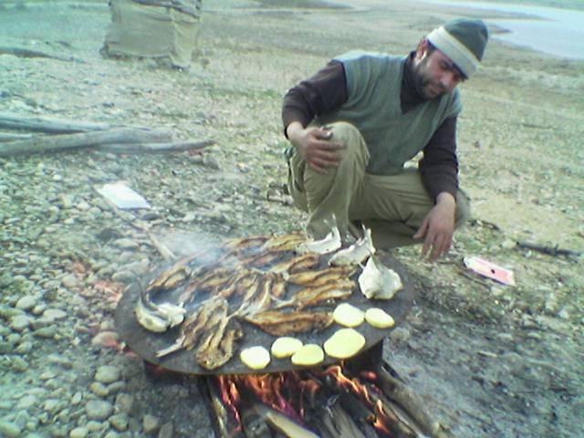 پخت سنتی ماهی  میانه